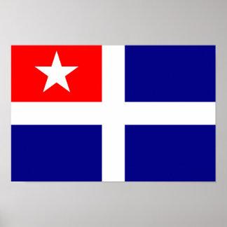 crete region flag greece symbol poster