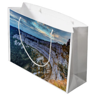 Creux du Van rocky cirque, Switzerland Large Gift Bag