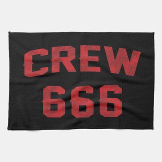 Crew 666 tea towel