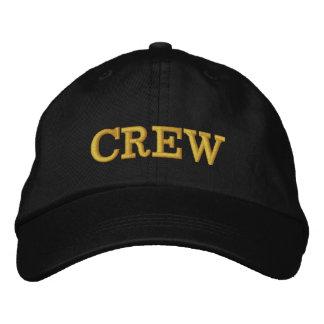 CREW Black  Basic Adjustable Cap Embroidered Hat