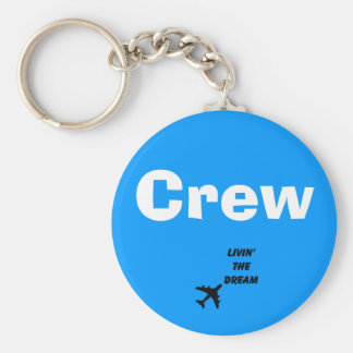 Crew Living Basic Round Button Key Ring