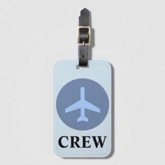 Crew Luggage Tag in Vintage Blue