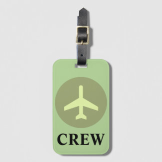 Crew Luggage Tag in Vintage Green