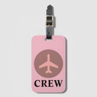 Crew Luggage Tag in Vintage Pink