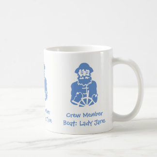 Crew Member of Boat - Name can be personalised Coffee Mug