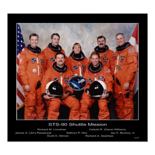 Crew of the STS-90 Shuttle Mission... Print