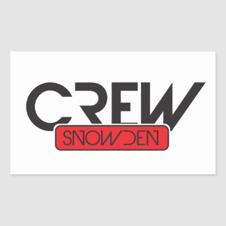 Crew Snowden Rectangular Sticker