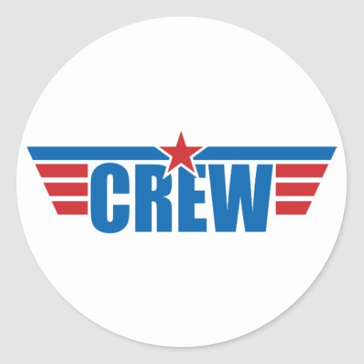 Crew Wings Badge - Aviation Round Stickers