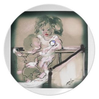 Crib Catch Vintage Style Plate