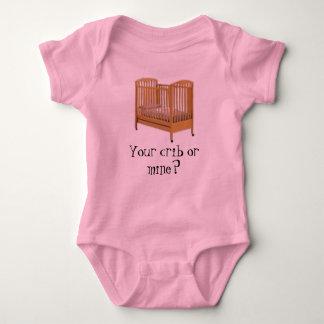 crib, Your crib or mine? Baby Bodysuit