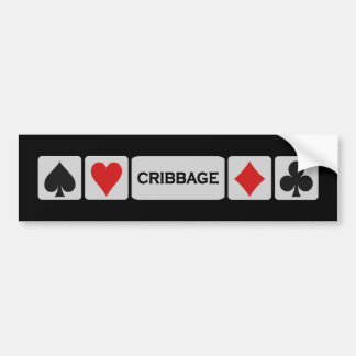 Cribbage bumpersticker bumper sticker