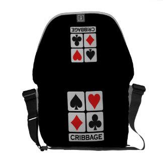 Cribbage Player custom messenger bag