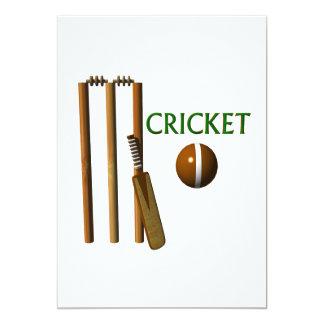 Cricket 13 Cm X 18 Cm Invitation Card