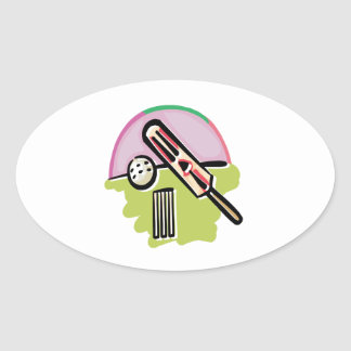 Cricket 4 oval sticker