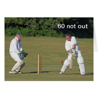 Cricket 60th birthday card