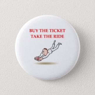 cricket 6 cm round badge