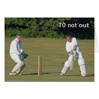Cricket 70th birthday card