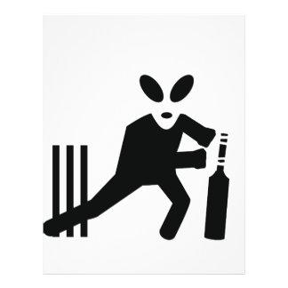 cricket alien icon custom flyer