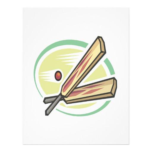 Cricket Ball And Bat Flyers