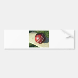 cricket-ball-and-bat.jpg bumper sticker