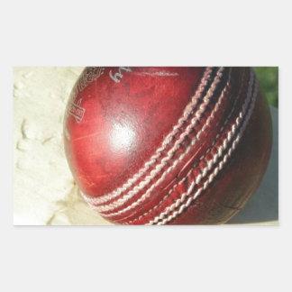 cricket-ball-and-bat.jpg rectangular sticker
