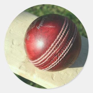 cricket-ball-and-bat.jpg round sticker
