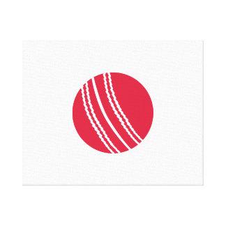 Cricket ball canvas print