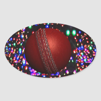 Cricket Ball Game Player Bowler Wicket Keeper Bat Oval Stickers
