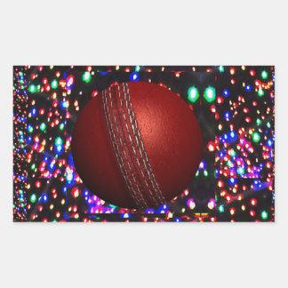 Cricket Ball Game Player Bowler Wicket Keeper Bat Rectangular Sticker