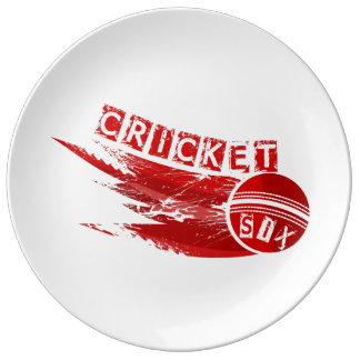 Cricket Ball Hit For Six Plate