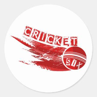 Cricket Ball Hit For Six Round Sticker
