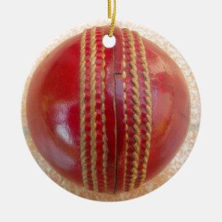 Cricket Ball.jpg Round Ceramic Decoration
