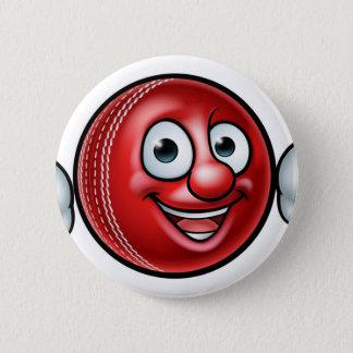 Cricket Ball Mascot 6 Cm Round Badge