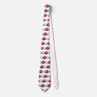 Cricket Ball Mascot Tie