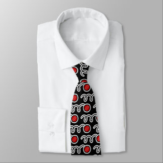 Cricket ball pattern neck tie for players and fans