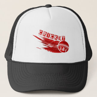 Cricket Ball Sixer Trucker Hat