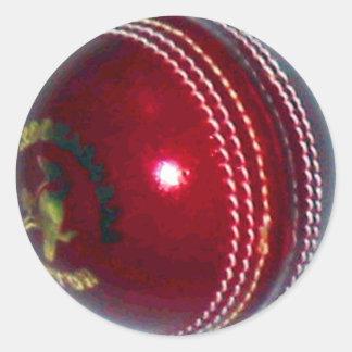 Cricket Ball Round Stickers