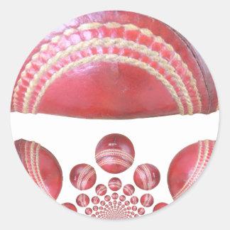 cricket balls designs.png round sticker