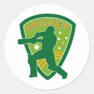 cricket batsman batting australia stars round stickers