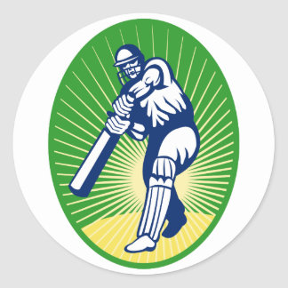 cricket batsman batting bat stickers