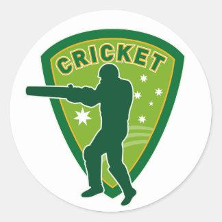 cricket batsman batting silhouette australia round sticker