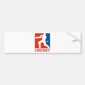 cricket batsman batting silhouette bumper sticker