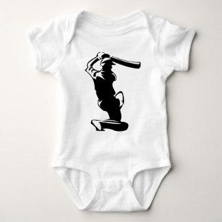cricket batter player baby bodysuit