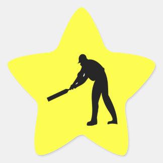 Cricket Batter Star Sticker