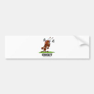 Cricket by Lorenzo © 2018 Lorenzo Traverso Bumper Sticker