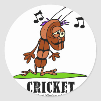 Cricket by Lorenzo © 2018 Lorenzo Traverso Classic Round Sticker
