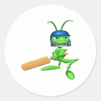 Cricket Cricket Round Sticker