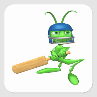 Cricket Cricket Square Sticker