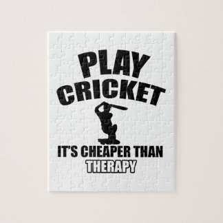 cricket   design jigsaw puzzle