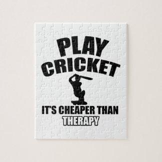 cricket   design jigsaw puzzle